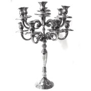 Silver Candle Chandelier