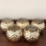 Gold set of candle Holders