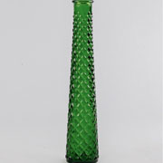 Glass Tall Tapered Vase Spanish - Green