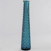 Glass Tall Tapered Vase Spanish - Aqua Green