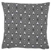 Black & Grey (Organic Pattern) Scatter Cushion