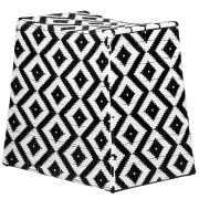 Black and White Ashanti Stools