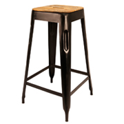 Black Cargo Bar Stool