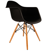 Black Eames Bucket Cafe Chair