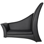 Black Half Millennium Double Seater Couch