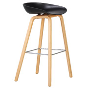 Black Hay Bar Stool