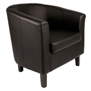 Black Carla Tub Single Seater Couch