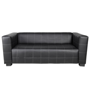 Black Hudson Double Seater Couch