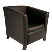 Black Club Single Seater Couch
