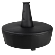 Black Mexican Hat Ottoman