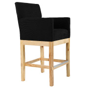 Black Olivia Bar Stool