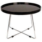 Black Round Martini Coffee Table