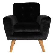 Black Sexton Single Seater Couch