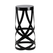 Black Twirl Bar Stool