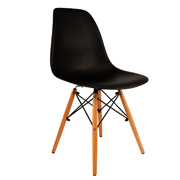 Black Eames Cafe Chair