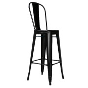 Black Xavier Fullback Bar Stool