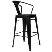 Black Zoltan Bar Stool