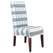 Blue & White Patterned Dining Chair