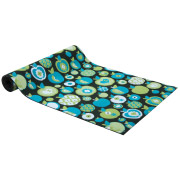 Blue Apple Patterned Carpet Runner