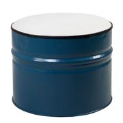 Blue Drum Ottoman