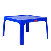Blue Plastic Square Table