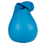 Blue Leather Bean Bag