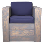 Blue Pallet Single Seater Couch