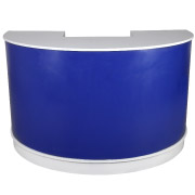 Blue Semi Circle Bar Counter