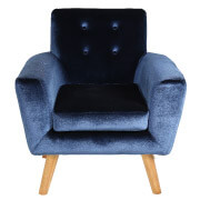 Blue Sexton Single Seater Couch