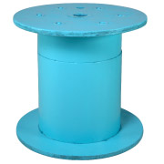 Blue Wooden Spool Cafe Table