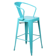 Light Blue Zoltan Bar Stool