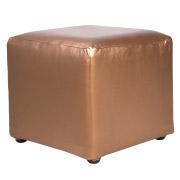 Bronze Leather Box Ottoman