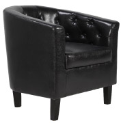 Brown Chesterfield Tub Single Seater Couch