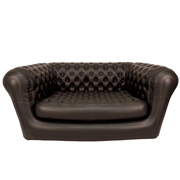 Black Blow Up Double Seater Couch
