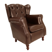 Brown Chesterfield Single Seater Couch