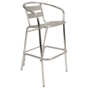 Chrome Flamingo Bar Stool