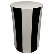 Black and White Circus Cocktail Table