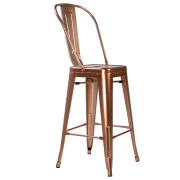 Rose Gold Xavier Fullback Bar Stool