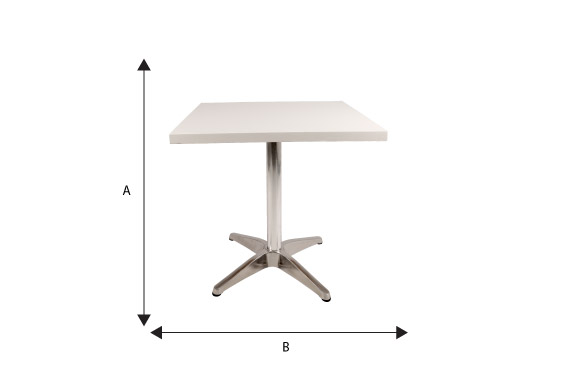 Square Cafe Tables Tables INSPIRE FURNITURE RENTALS Wynberg Sandton - Cafe table dimensions