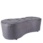 Grey Figure Eight Ottoman