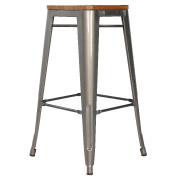 Galvanised Cargo Bar Stool