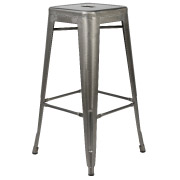 Galvanised Xavier Bar Stool