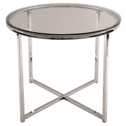 Glass Round Cross Legged Coffee Table