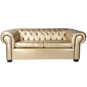 Gold Chesterfield Double Seater Couch