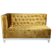 Gold Cleopatra Double Seater Couch