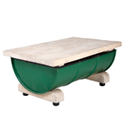 Green Rectangular Drum Coffee Table