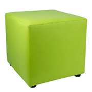 Green Leather Box Ottoman