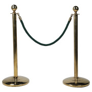 Green Stanchion Rope With Gold Clasp