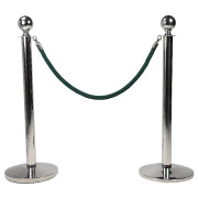 Green Stanchion Rope With Chrome Clasp