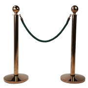 Green Stanchion Rope With Copper Clasp